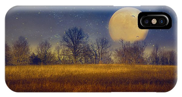 Struck By The Moon IPhone Case