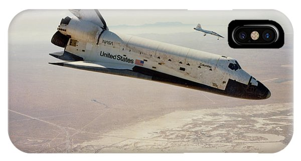 Spaceflight iPhone Case - Sts-4 Returning To Edwards At The End Of Mission by Nasa/science Photo Library
