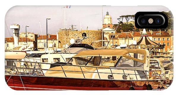 French Riviera iPhone Case - Saint-tropez Harbor by Elena Elisseeva