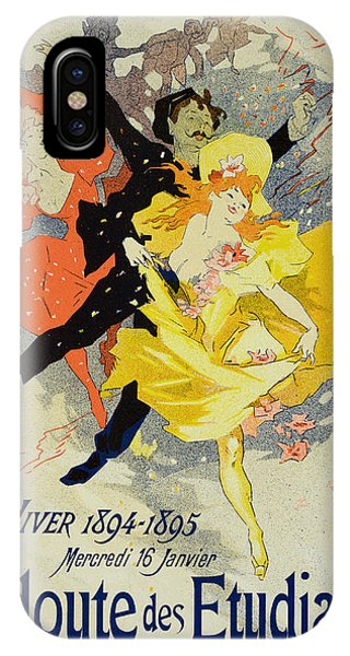 Dance iPhone Case - Student Gala Evening Poster by Jules Cheret