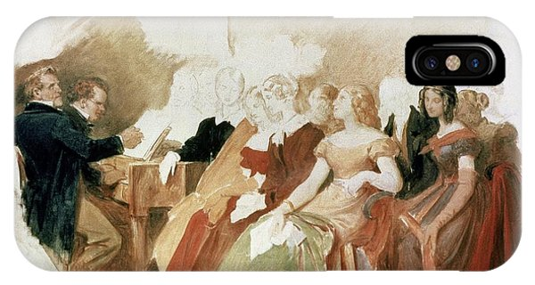 Study For An Evening At Baron Von Spauns Schubert At The Piano Among His Friends IPhone Case