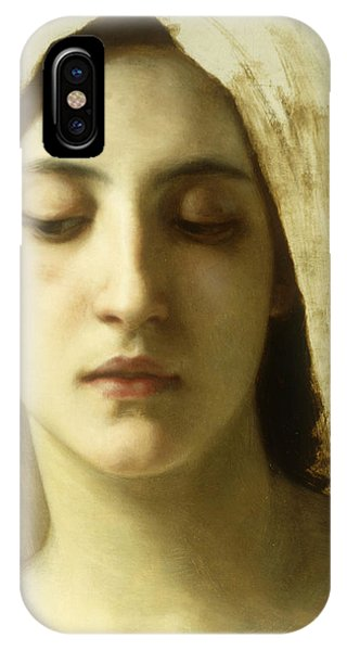 Deep Thought iPhone Case - Study For La Charite by William-Adolphe Bouguereau