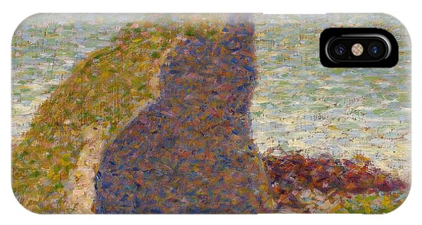 Canberra iPhone Case - Study For Le Bec Du Hoc by Georges Seurat