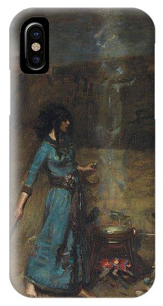 Cauldron iPhone Case - Study For The Magic Circle, 1886  by John William Waterhouse