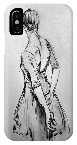 Dance iPhone Case - Study Of A Dancer by H James Hoff