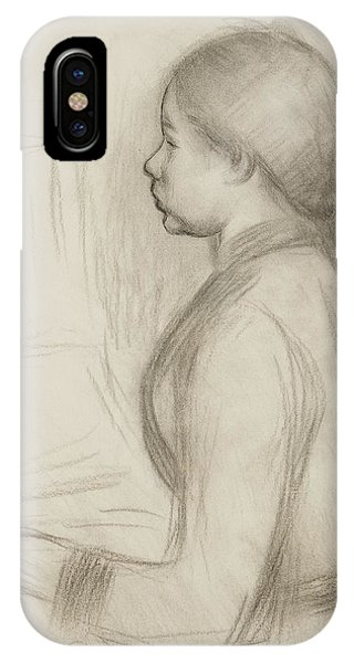 Impressionistic iPhone Case - Study Of A Young Girl At The Piano by Pierre Auguste Renoir