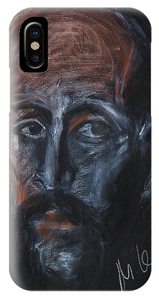 Study Of The Male Face IPhone Case