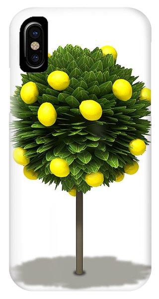 Shrub iPhone Case - Stylized Lemon Tree by Allan Swart