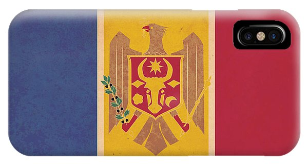 Stylized Moldovan Flag  Phone Case by Megan C