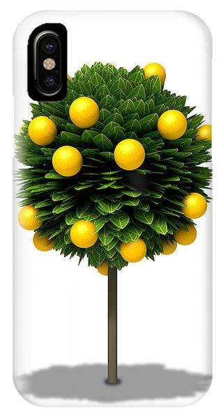 Shrub iPhone Case - Stylized Orange Tree by Allan Swart