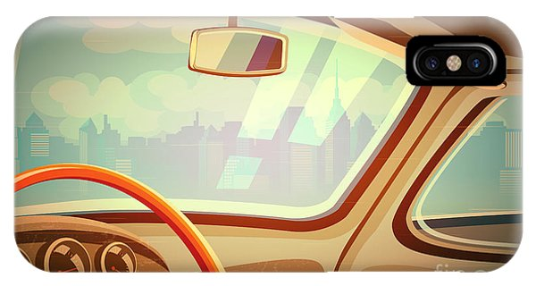 Auto iPhone Case - Stylized Retro Interior Vector by Andrii Stepaniuk