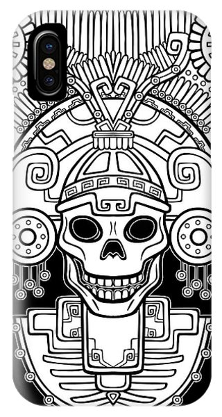 American iPhone Case - Stylized Skull. Pagan God Of Death by Zvereva Yana