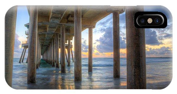 Subtle Pier Sunset IPhone Case