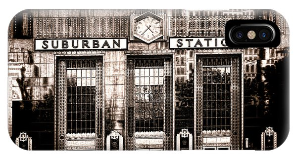 Railroad Station iPhone Case - Suburban Station by Olivier Le Queinec