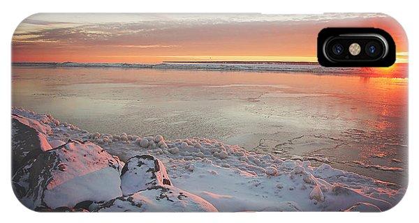 Sunrise iPhone Case - Subzero Sunrise by Carrie Ann Grippo-Pike