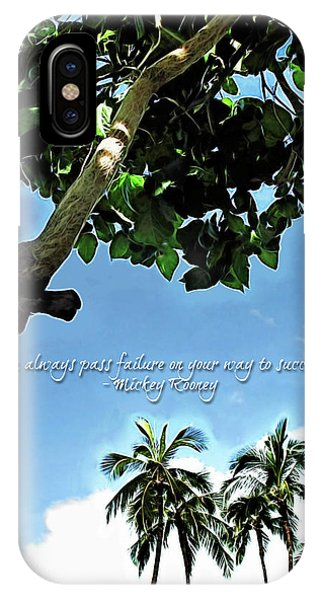Success And Failure Botanical Inspiration IPhone Case