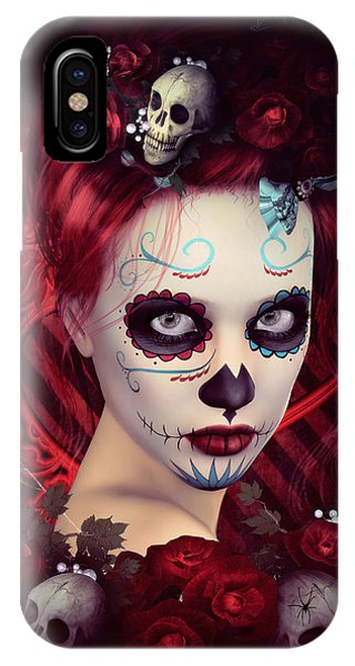iPhone Case - Sugar Doll Red by Shanina Conway