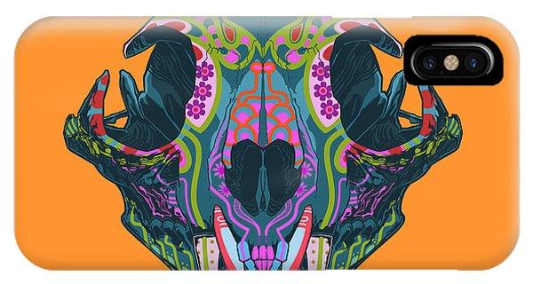Lynx iPhone Case - Sugar Lynx  by Nelson dedos Garcia