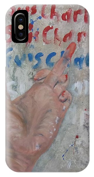 Je Suis Charlie Finger Painting To Al Qaeda IPhone Case