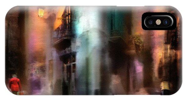 Alley iPhone Case - Suite In Treble Clef by Sol Marrades