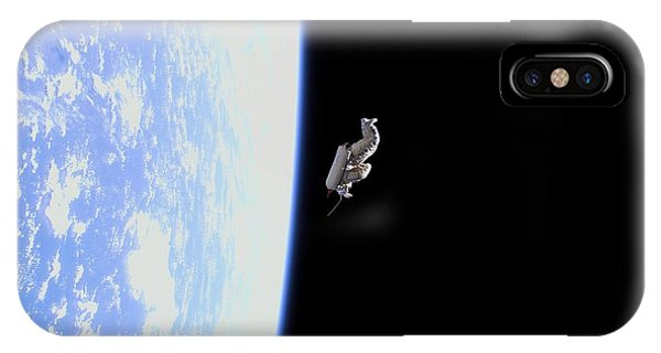 International Space Station iPhone Case - Suitsat Space Debris by Nasa/science Photo Library