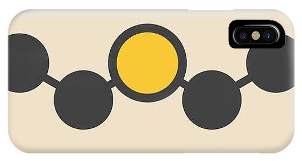 Mustard iPhone Case - Sulfur Mustard Molecule by Molekuul