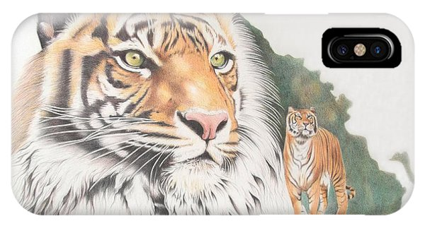 iPhone Case - Sumatran Tiger by Jill Parry