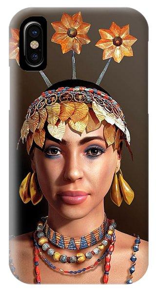 Head And Shoulders iPhone Case - Sumerian Royal Woman by Jose Antonio Penas/science Photo Library