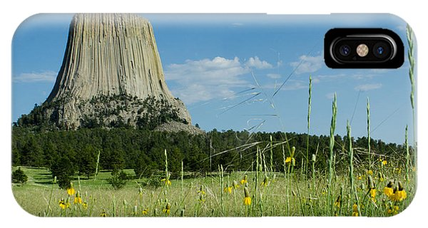 Summer Day At Devils Tower IPhone Case