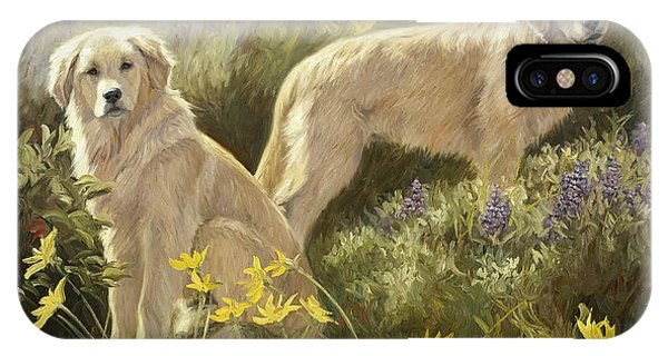 Retriever iPhone Case - Summer Day by Lucie Bilodeau