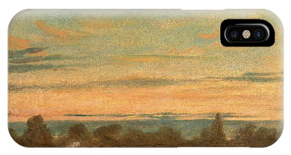 Summer - Evening Landscape, Attributed To John Constable Phone Case by Litz Collection