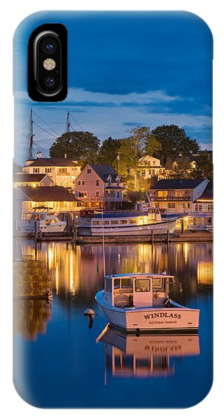 Summer Evening On Boothbay Harbor IPhone Case