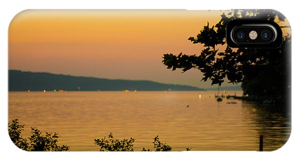 Summer Evening On Cayuga Lake IPhone Case