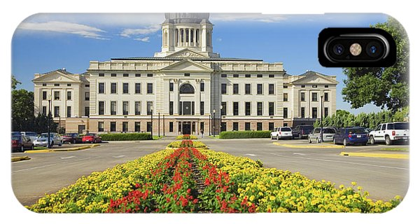 Capitol Building iPhone Case - Summer Flower-bed Leading To South by Panoramic Images