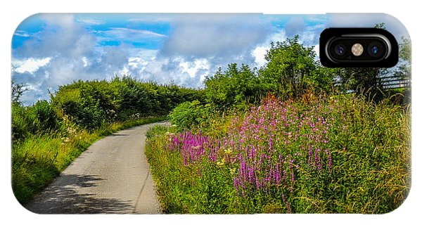 Summer Flowers On Irish Country Road IPhone Case