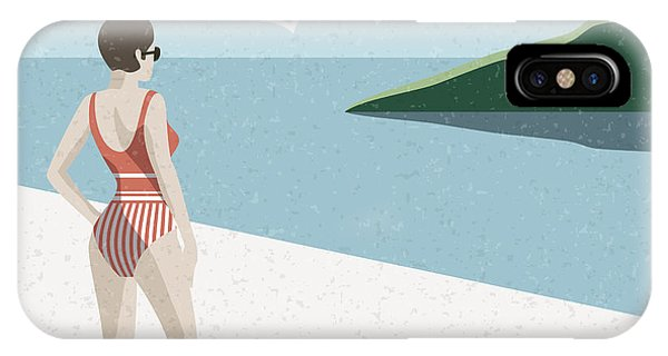 Celebration iPhone Case - Summer Holidays Retro Poster Woman The by Antartstock