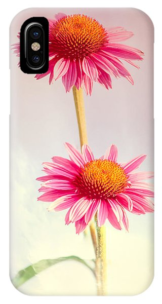 Uplift iPhone Case - Summer Impressions Cone Flowers by Bob Orsillo