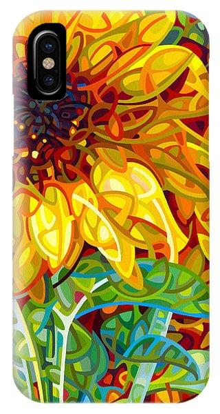 Sunflower iPhone X / XS Case - Summer In The Garden by Mandy Budan