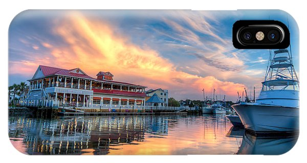 Summer Nights On Shem Creek IPhone Case