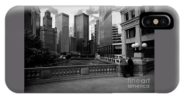 Summer On The Chicago River - Black And White IPhone Case
