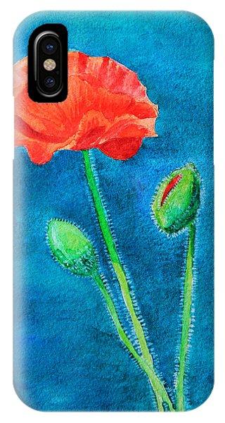 Summer Poppy IPhone Case