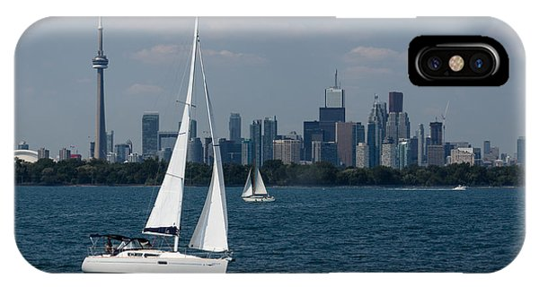 Summer Sailing Postcard From Toronto IPhone Case