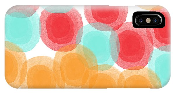 Shape iPhone Case - Summer Sorbet- Abstract Painting by Linda Woods