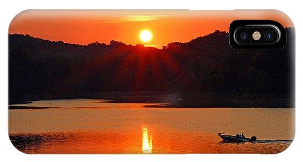 Summer Star Burst Sunset With Signature IPhone Case