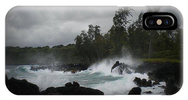 Summer Storm Hana Bay Hawaii IPhone Case