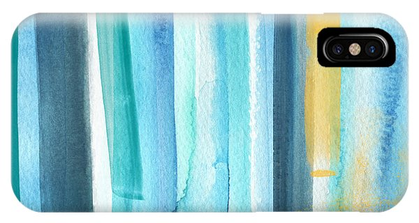 Aqua iPhone Case - Summer Surf- Abstract Painting by Linda Woods
