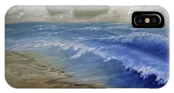IPhone Case featuring the painting Summer Surf by Judy Hall-Folde