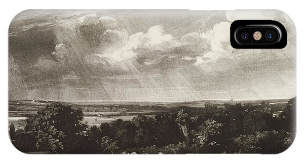 English Countryside iPhone Case - Summerland, Engraved By David Lucas 1802-81 Mezzotint by John Constable