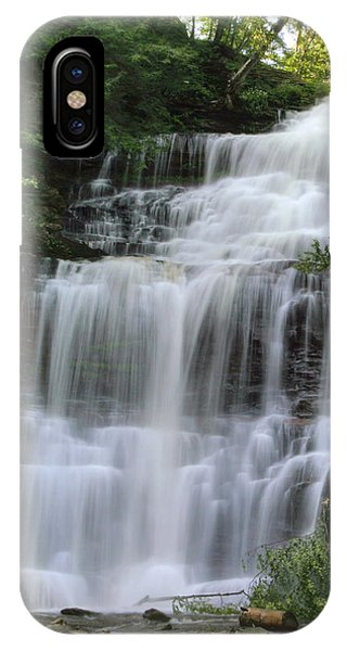 Summertime At Ganoga Falls In Rickett's Glen IPhone Case