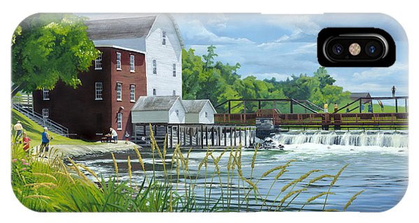 Summertime At The Old Mill IPhone Case